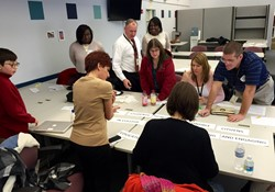 Monticello and Roxboro staff and students participated in a visioning session with architects.
