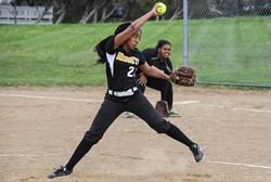 Heights High softball player