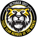 October Tiger Team Members of the Month logo