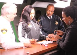 Police Chiefs Tour Heights High