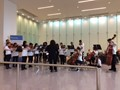 Roxboro Middle School orchestra performing at the Cleveland Clinic
