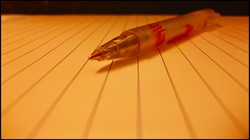 Pen with blurred line