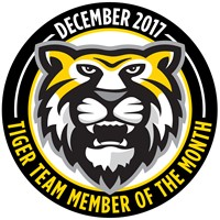 Tiger Team Members of the Month - December 2017
