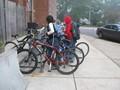 Monticello students park their bikes