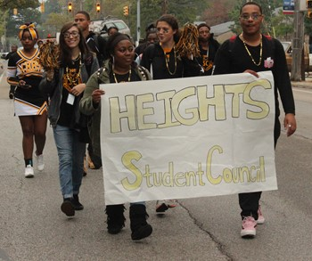 Heights High student council in the 2017 homecoming parade