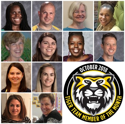 Tiger Team Members of the Month - October 2018
