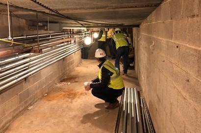 BAC inspecting Roxboro tunnel