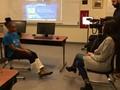 Heights High senior Aminah Wyatt speaks with the WEWS reporter