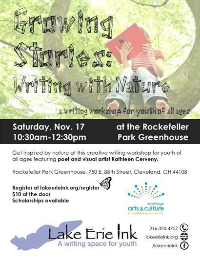 Nature writing workshop flyer
