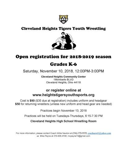 Youth Wrestling Flyer