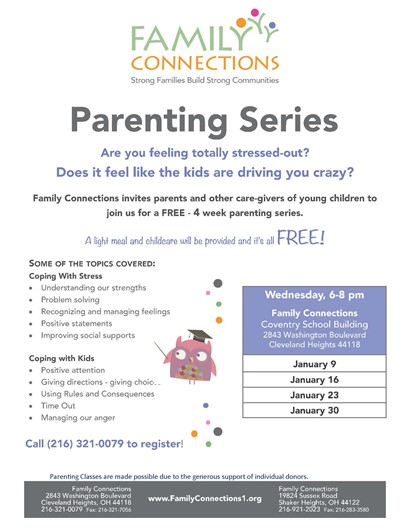 Parenting series flyer