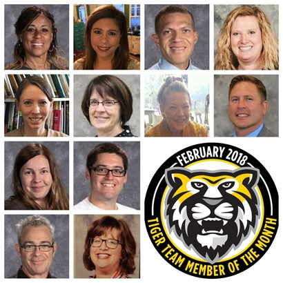 Tiger Team Members of the Month - February 2018