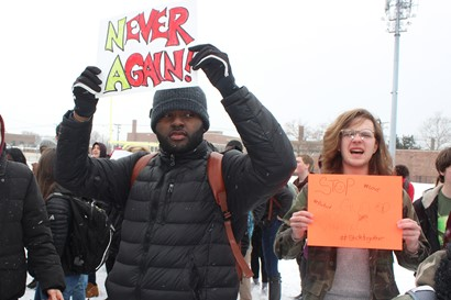 Heights High students at National Walkout Day