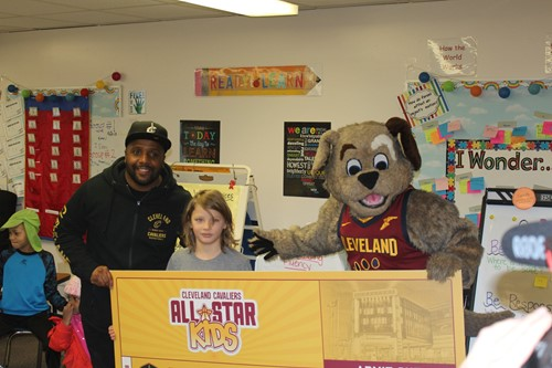 Brock with Cavs emcee and Moondog