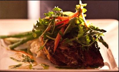 Salmon dish from Bodega