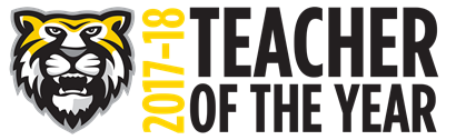 2017-2018 CH-UH Teacher of the Year Graphic