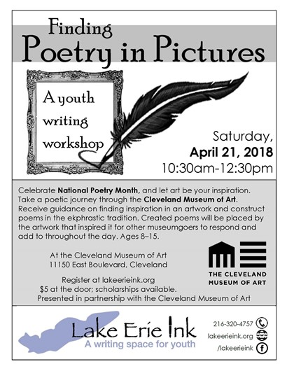 Poetry in Pictures flyer
