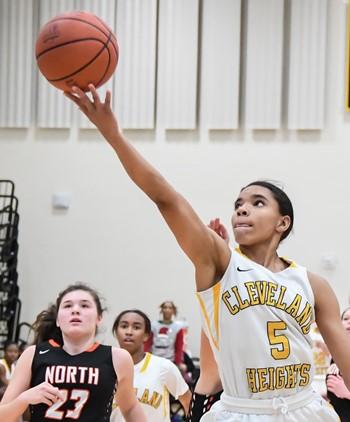 Heights High girls basketball player