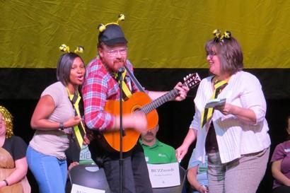 Three Noble teachers singing