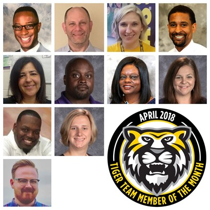 Tiger Team Members of the Month - April 2018