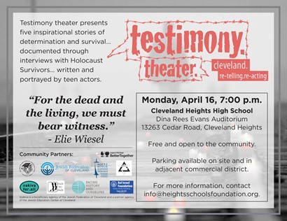 Testimony Theater flyer