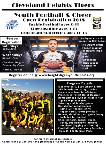 Tigers Football and Cheer Flyer
