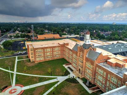 Aerial of Heights High School