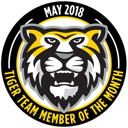 Tiger Team Members of the Month - May 2018