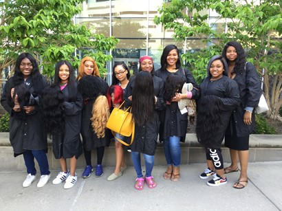 Cosmetology students deliver wigs to the UH Seidman Cancer Center