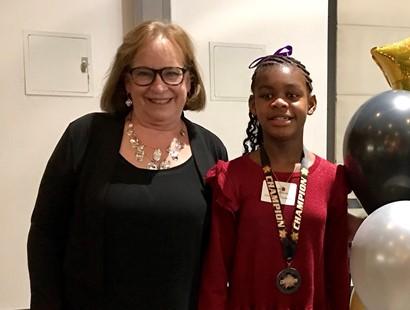 Cindy Schmidt with student