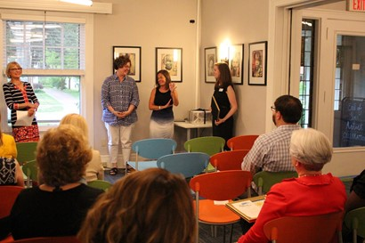Meghan McMahon and Sue Pardee receive award