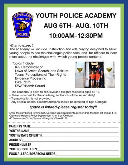 Police Academy flyer