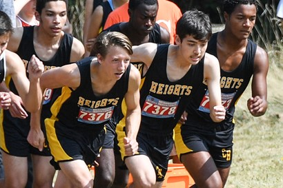 Heights High boys cross country runners