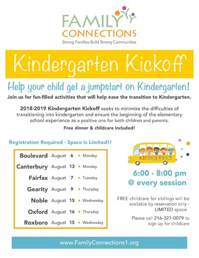 Kindergarten kickoff flyer