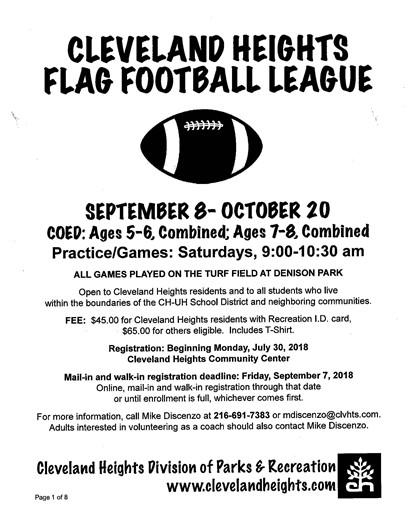 Flag football flyer