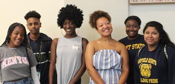 AVID alums talk to current AVID students.