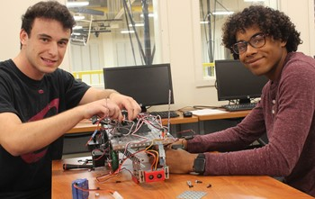 Students build an automated guided vehicle