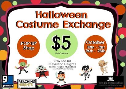 Costume exchange flyer