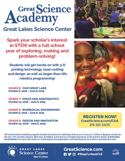 Great Science Academy flyer