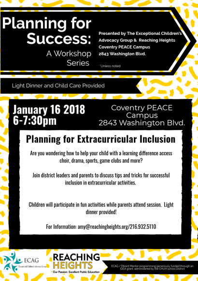 January workshop flyer