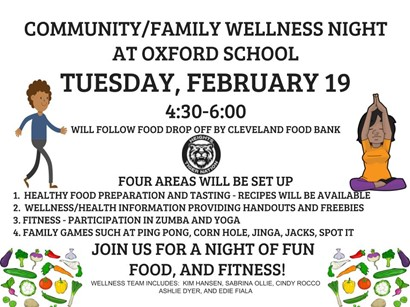 Wellness night flyer