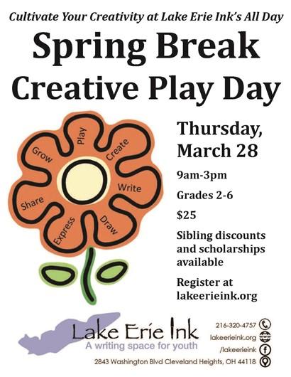 Creative Play Days flyer