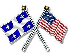 US and Quebec flag
