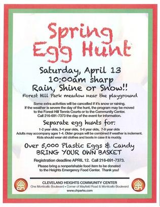 egg hunt flyer