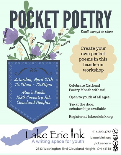 Pocket poetry flyer