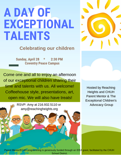 Day of talents flyer