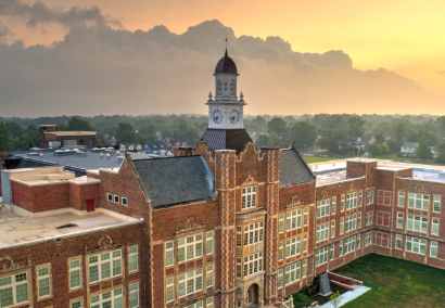 heights high school aerial view