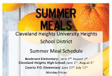 summer meal flyer