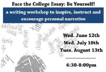 college essay workshop flyer