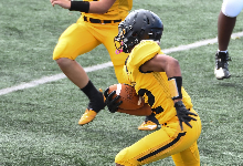 player running with football